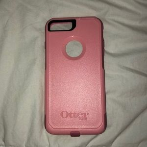 Pink otter box protective case for iPhone 8 Plus